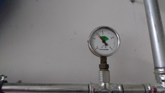 Before adding water pressure is about 1.5 bar
