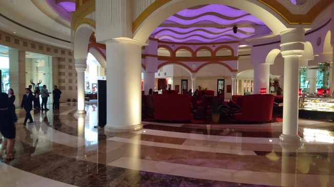 The Intercontinental hotel and its hall