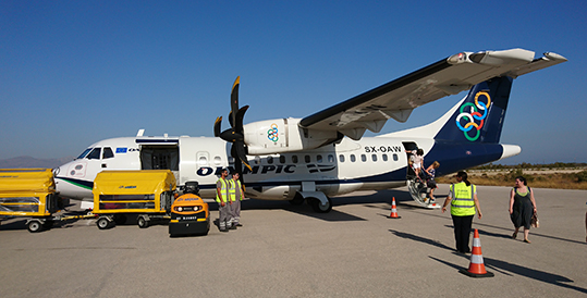 Olympic's propeller plane
