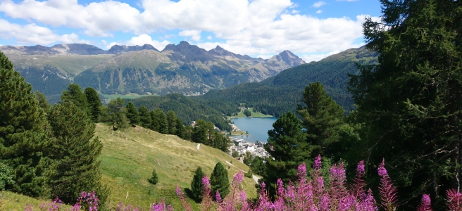 The city of St. Moritz and its lake