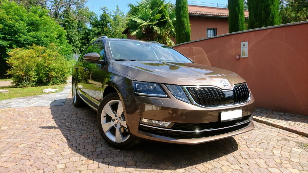 Maple brown Skoda Octavia (2019).
